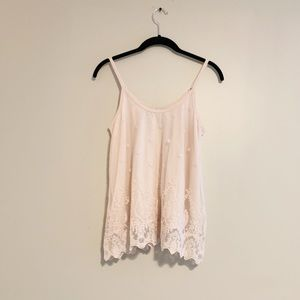 American Rag pink lace tank top